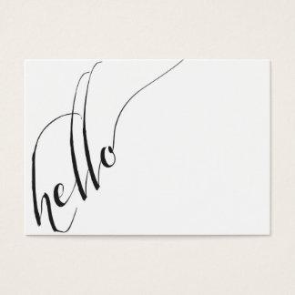 hello Calligraphic Script Business Card