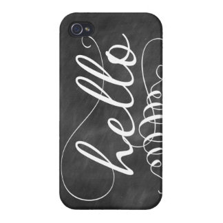 Hello Chalkboard iPhone Case Case For The iPhone 4