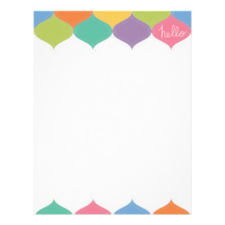 Hello colorful letterhead