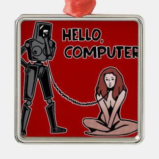 Hello, Computer Metal Ornament