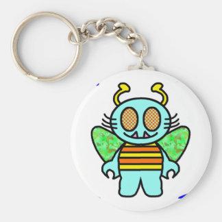 hello cootie basic round button keychain
