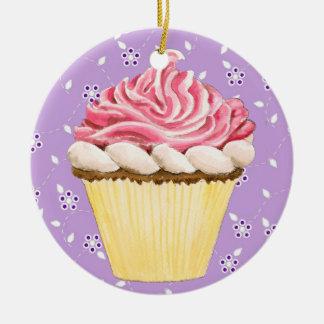 Hello Cupcake ! Ceramic Ornament