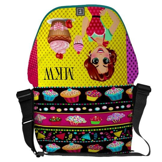 Hello Cupcake Lg Rickshaw Bag Courier Bags