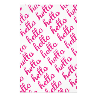 Hello Cute Colorful Hello Gifts Stationery