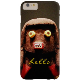 """""""Hello"""" Cute, Funny, Sweet, Odd Face Figure Photo Barely There iPhone 6 Plus Case"""
