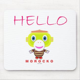 Hello-Cute Monkey-Morocko Mouse Pad