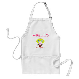 Hello-Cute Monkey-Morocko Standard Apron