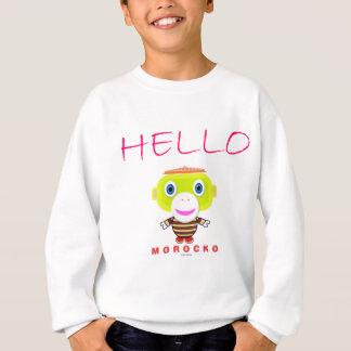 Hello-Cute Monkey-Morocko Sweatshirt