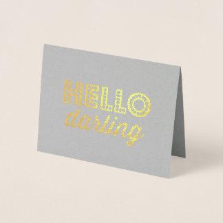 Hello Darling Foil Card