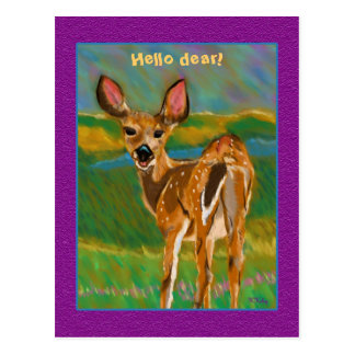 Hello Dear Deer postcard