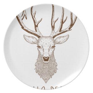 Hello Deer Plate