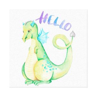 Hello Dinosaur Canvas Print