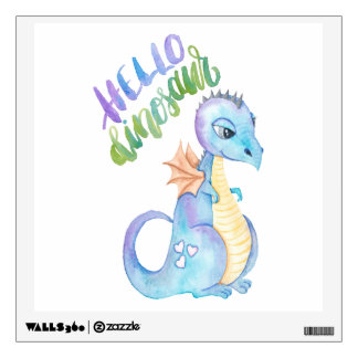Hello Dinosaur Wall Sticker