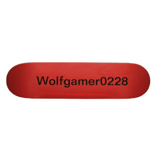 Hello do you like the youtube person Wolfgamer0228 Skateboard Deck