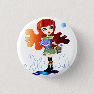 Hello Dollies: Fira and Bluebunny 1 Inch Round Button