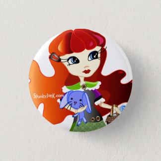 Hello Dollies: Fira and Bluebunny Headshot 1 Inch Round Button