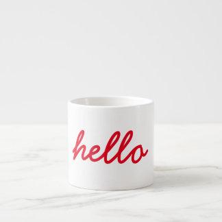 Hello Espresso Mug (Red)
