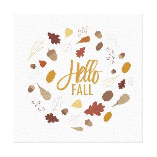 Hello Fall Foliage Canvas