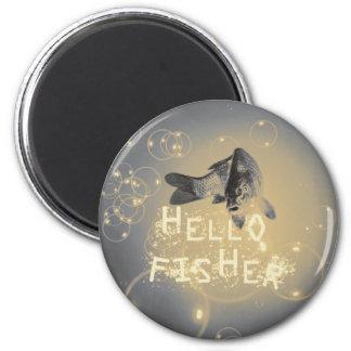 Hello fisher 2 inch round magnet