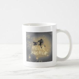 Hello fisher coffee mug