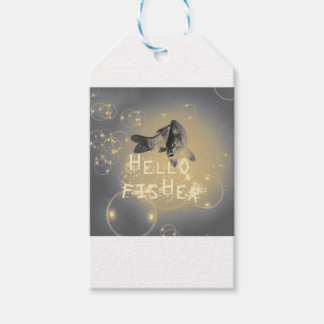 Hello fisher gift tags