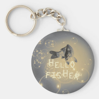 Hello fisher keychain