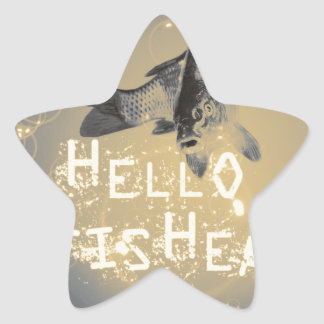 Hello fisher star sticker