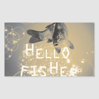 Hello fisher sticker