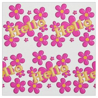 Hello. floral nursery pattern. fabric
