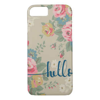 Hello floral pattern Phone cover