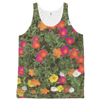 Hello Flowers All-Over-Print Tank Top