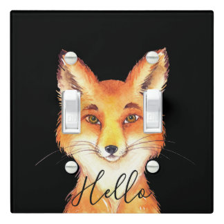Hello Fox Light Switch Cover