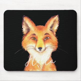 Hello Fox Mouse Pad