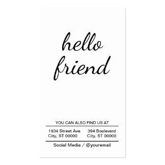 hello friend business card