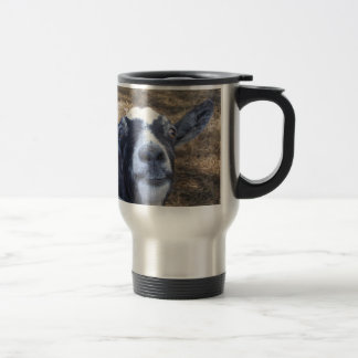 Hello Friendly Goat Travel Mug