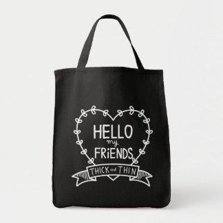 HELLO FRIENDS_BLK TOTE BAG