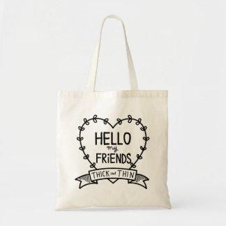 HELLO FRIENDS TOTE BAG