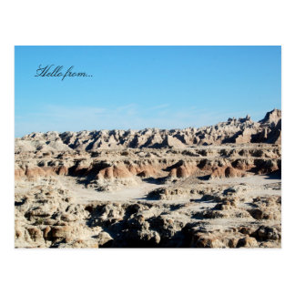 Hello from... Badlands National Park Postcard
