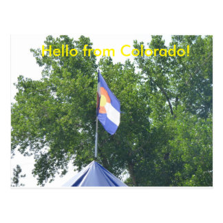 Hello from Colorado Postcard