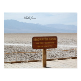 Hello from... Death Valley National Park Postcard