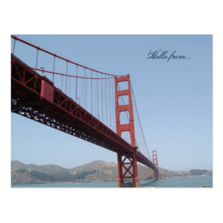 Hello from... Golden Gate Bridge San Francisco Postcard