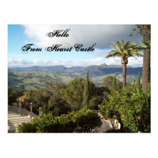 Hello From Hearst Castle Postcard