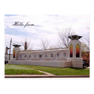 Hello from... Kalamazoo Postcard