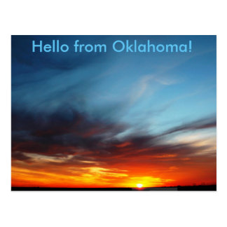 Hello from Oklahoms Postcard