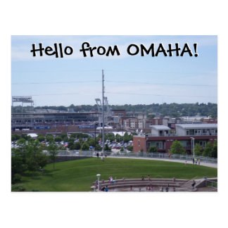 Hello from OMAHA! Postcard