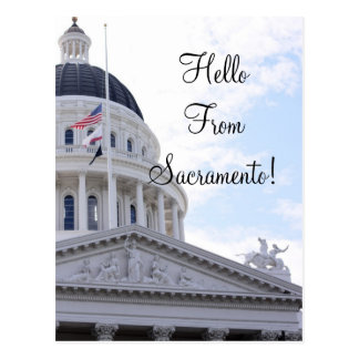 Hello From Sacramento Postcard