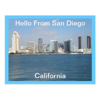 Hello From San Diego, California  Postcard
