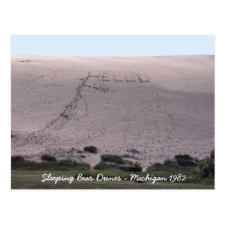 Hello From Sleeping Bear Dunes Michigan Postcard