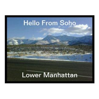 Hello from Soho Lower Manhattan   Postcard