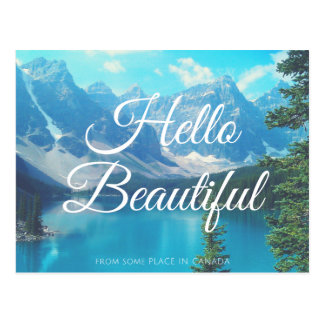 Hello, From Some Place Postcard